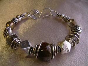 beady bangle bracelet